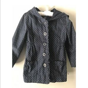 Baby Gap Lightweight Polka Dot Navy Spring Jacket